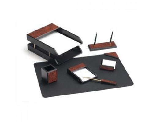 Набор настольный деревянный 7 предметов, GOOD SUNRISE, темно-бордовый/черный