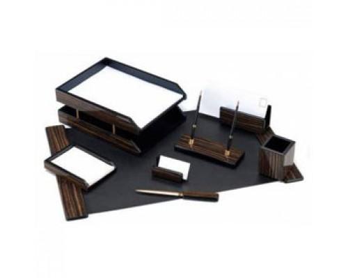 Набор настольный деревянный 8 предметов, GOOD SUNRISE, черное дерево