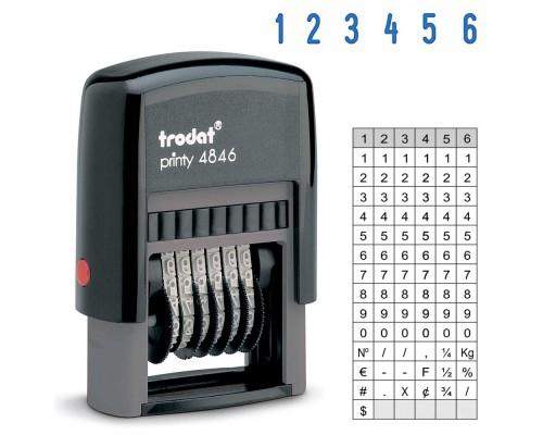 Нумератор TRODAT 4846, 4мм 6-ти разрядный