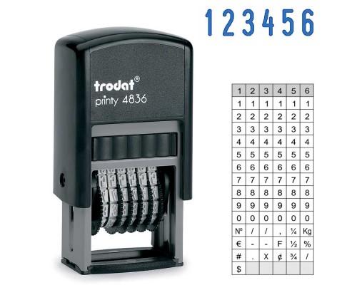 Нумератор TRODAT 4836, 3,8мм 6-ти разрядный