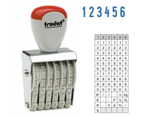 Нумератор ленточный TRODAT 1546, 4мм 6-ти разрядный