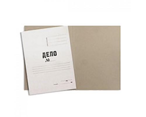 """Папка """"Дело"""" 380г/м2, крой, мелован. картон, белый"""