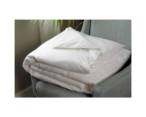 Одеяло 1.5-спальное 140х205 см спанбонд/холлофайбер белое
