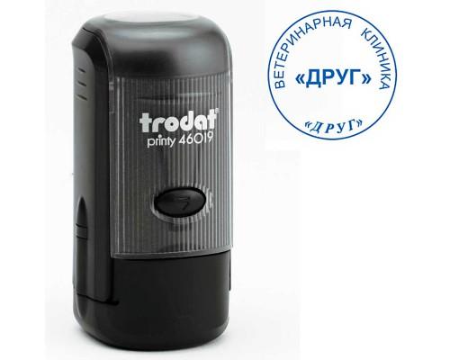 Оснастка для круглой печати TRODAT 46019, d=19мм, черный