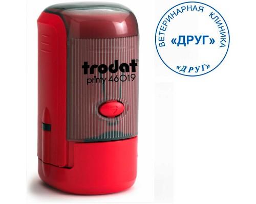 Оснастка для круглой печати TRODAT 46019, d=19мм, красный