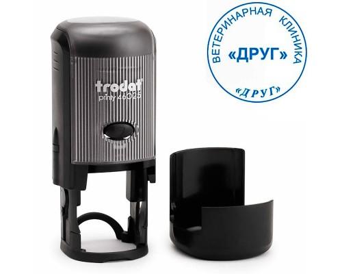 Оснастка для круглой печати TRODAT 46025, d=25мм, черный