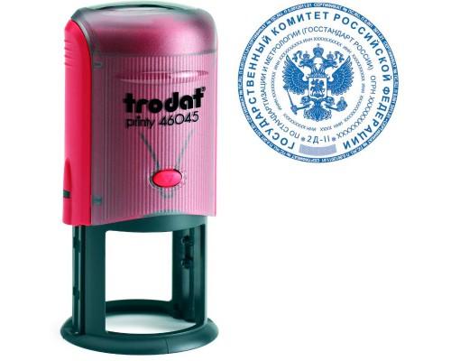 Оснастка для круглой печати TRODAT 46045P3, d=45мм, красный