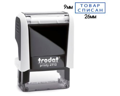 Оснастка для штампа TRODAT 4910 P4, 26х9мм, белая для тампопечати (подушка синий)