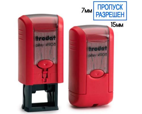 Оснастка для штампа TRODAT 4908, 15х7мм, красный