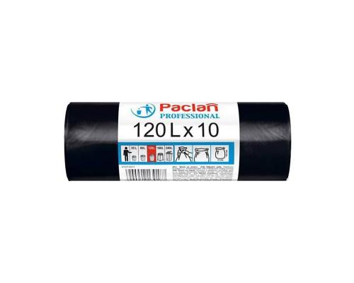 Мешки для мусора на 120 литров Paclan Professional черные (12.8 мкм, в рулоне 10 штук 70x105 см)