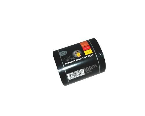 Мешки для мусора на 60 литров Amigo черные (30 мкм, в рулоне 50 штук 60x90 см)