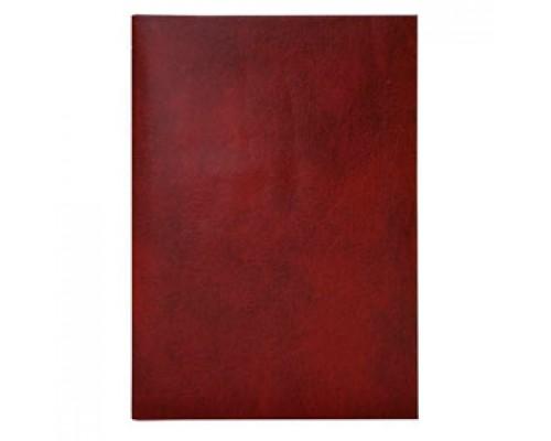 Папка адресная без тиснения, бумвинил, красный