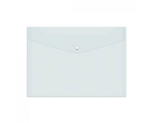 Папка-конверт на кнопке А4, 120мкр, прозрачный