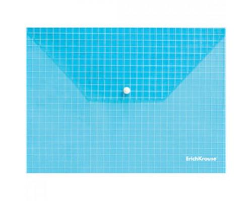 Папка-конверт на кнопке А4 ERICH KRAUSE Envelope, с печатью, ассорти