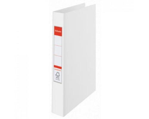 Папка 2 кольца А4 35мм ESSELTE, картон с покрытием из полипропилена, белый