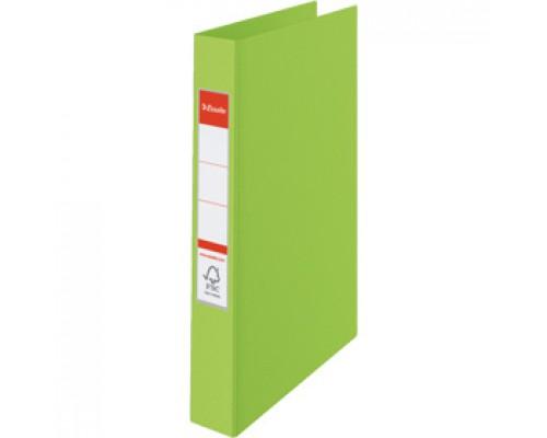 Папка 2 кольца А4 35мм ESSELTE, картон с покрытием из полипропилена, зеленый