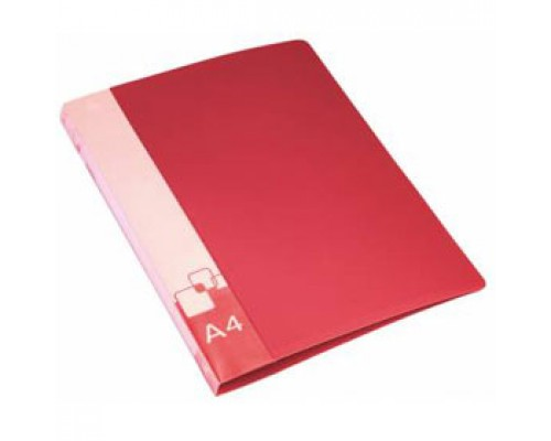 Папка 2 кольца А4 35/42мм, пластик, 0,7мм, красный