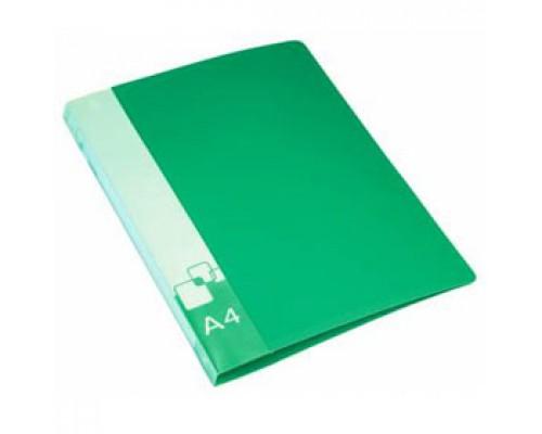 Папка 2 кольца А4 35/42мм, пластик, 0,7мм, зеленый