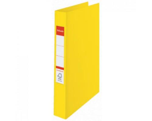 Папка 2 кольца А4 35мм ESSELTE, картон с покрытием из полипропилена, желтый