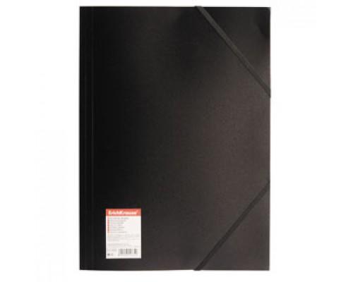 Папка с угловыми резинками А4 ERICH KRAUSE Standart, черный