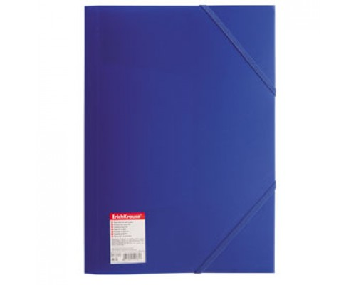 Папка с угловыми резинками А4 ERICH KRAUSE Standart, синий
