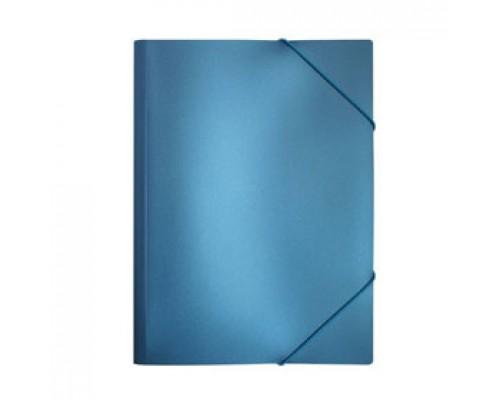 Папка с угловыми резинками А4 Metallic, синий