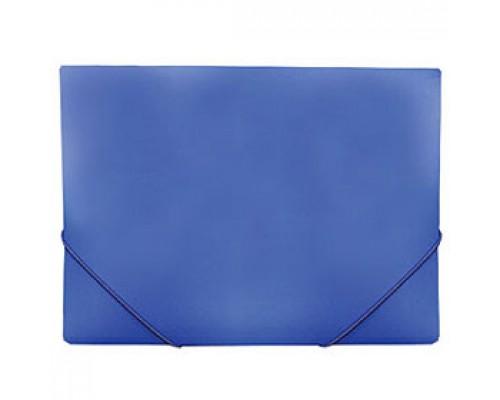 Папка с угловыми резинками А4, 0,5мм, синий