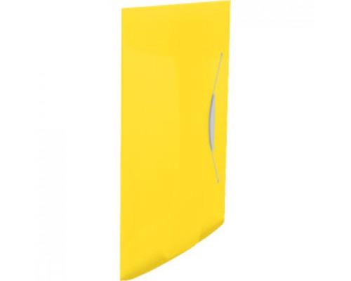 Папка на резинках А4 ESSELTE Vivida, пластик, желтый