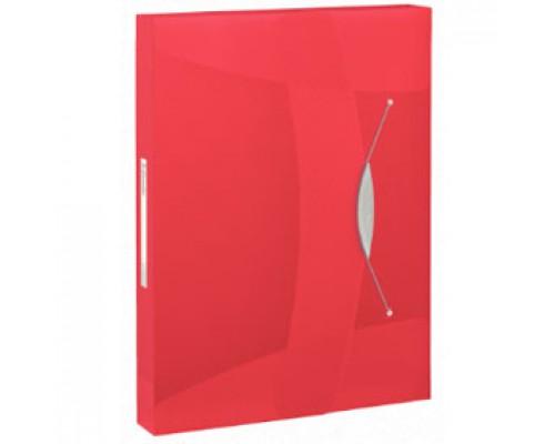 Папка-бокс на резинках А4 ESSELTE Vivida, корешок 40мм, 0,7мм, красный