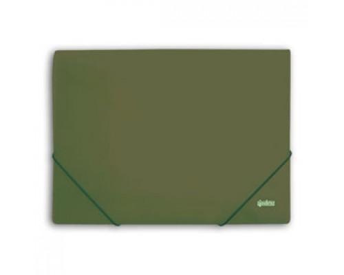 Папка с угловыми резинками А4 Metallic, зеленый