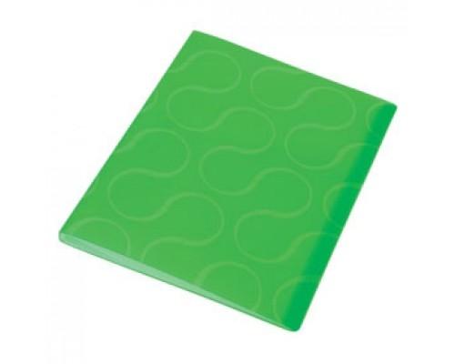 Папка с файлами 20 карманов, OMEGA, зеленый