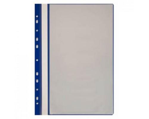 Папка с файлами 10 карманов, с перфорацией, синий