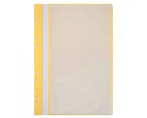 Папка с файлами 10 карманов, с перфорацией, желтый