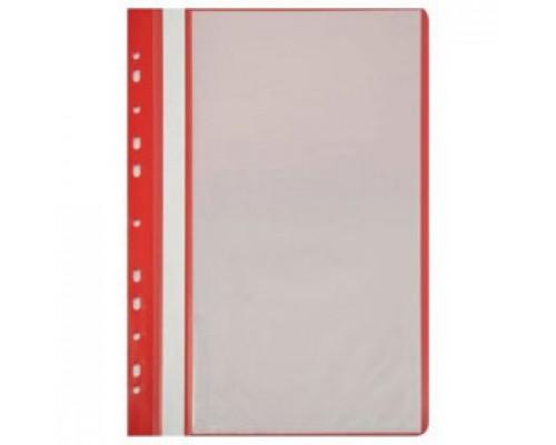 Папка с файлами 10 карманов, с перфорацией, красный