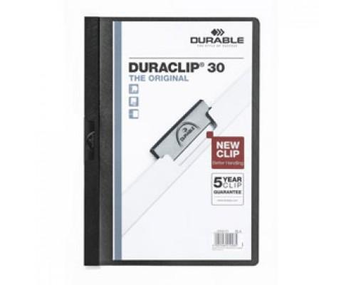 Папка с клипом DURABLE Duraclip 30 А4, от 1 до 30л, черный