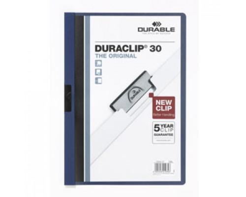 Папка с клипом DURABLE Duraclip 30 А4, от 1 до 30л, синий