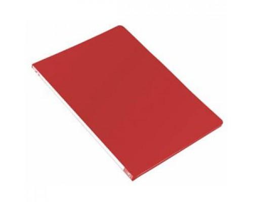 Папка с механическим прижимом, 0,5мм, красный
