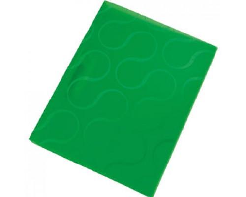 Папка с механическим прижимом OMEGA, 0,45мм, карман, зеленый