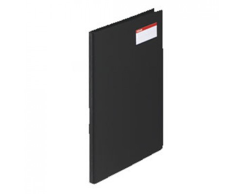 Папка с механическим прижимом ESSELTE, 0,7мм, внутри карман для визитки, черный