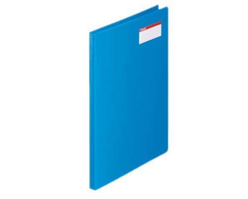 Папка с механическим прижимом ESSELTE, 0,7мм, внутри карман для визитки, синий