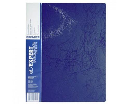 Папка с механическим прижимом EXPERT Complete Premier, 0,55мм, карман, синий