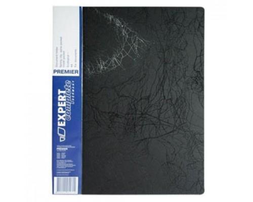 Папка с механическим прижимом EXPERT Complete Premier, 0,55мм, карман, черный