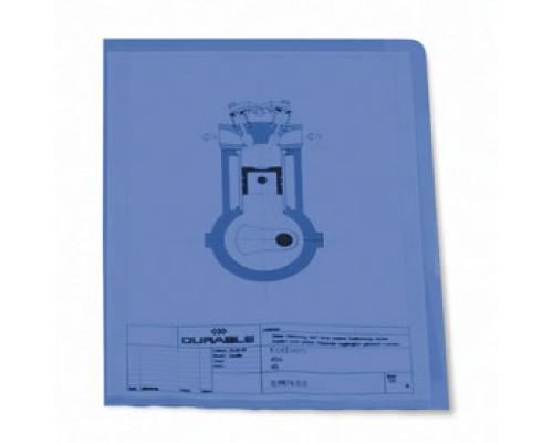 Папка-уголок А4 120мкм DURABLE, синий