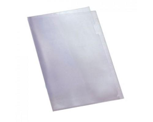 Папка-уголок А4 120мкр жест.пластик бесцв. прозр.