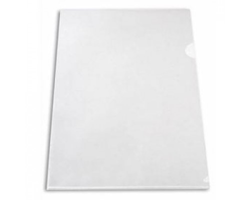 Папка-уголок А4 150мкр жест.пластик бесцв прозр.