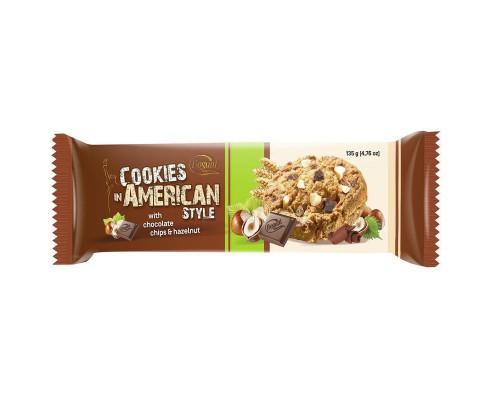 Печенье American Cookies шоколад + орех 135 г