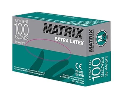 Перчатки латексные нестерильные Matrix Extra 50 пар размер M (текстурированные, неопудренные)