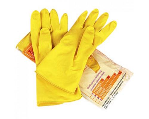 Перчатки латексные с напылением, L