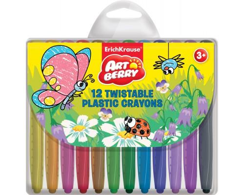 Пластиковые мелки ArtBerry Twistable 12 цветов, разноцветн.