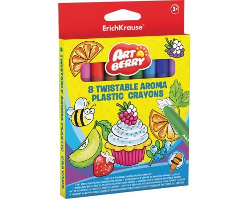 Пластиковые мелки ArtBerry Twistable Aroma 12 цветов, разноцветн.